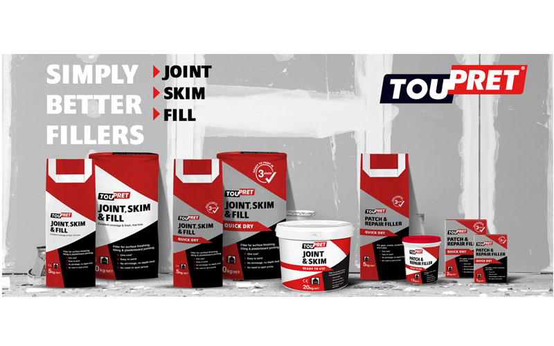 New for 2020 – Joint, Skim & Fill range from Toupret
